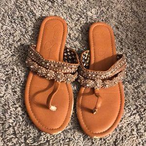 Jessica Simpson bling sandals